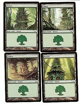 Mirrodin Basic Land MTG Magic Cards 40 Forests 10x of each art NM Free Ship