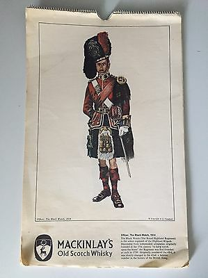 Vintage Mackinlay's Old Scotch Whiskey Advertisement Various Highlander Pics