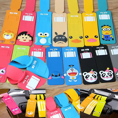 Cartoon Luggage Tags Suitcase Label Name Address ID Label Baggage Bag Tag Travel