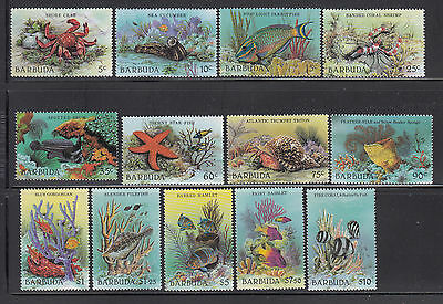 Barbuda 1987 Sea Life Sc 877-889 complete mint never hinged