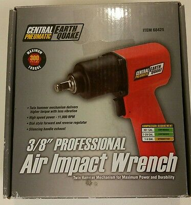 """Central Pneumatic 3/8"""" Air Impact Wrench - Professional - Earthquake - 68425"""