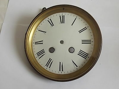 Antique ENAMEL DIAL With BEZEL 145mm GLAZED With FLAT BEVEL EDGE GLASS