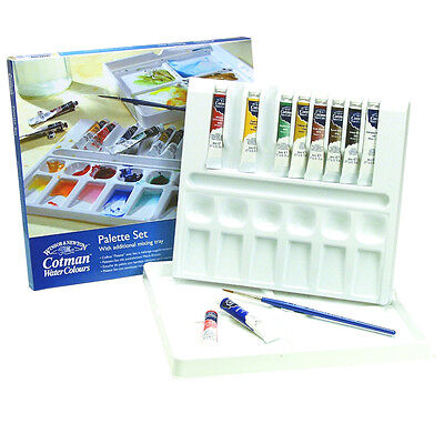 Winsor & Newton Cotman Watercolour Palette Set of 10 Tubes and Mix Tray