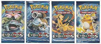 Pokemon Cards, XY 12 - Evolutions Booster Packs x 4, Factory Sealed