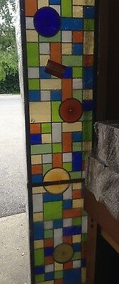 "83.5"" X 12"" Stained Glass Light Box Custom Made Wall Or Ceiling Mounted"