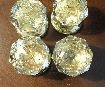 Doorknob Gainsborough Knobs Only Sonata Style Crystal Glass USED Lot 4