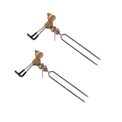 2x Fly Fishing Rod Holder Bracket Swivel Tilt Mount Fishing Ground Holder