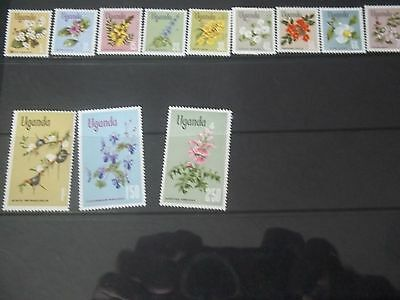 1969 Mint Flowers Stamps From Uganda
