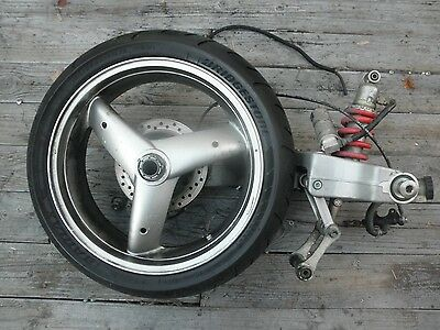 Swing arm & rear wheel Single sided custom Speed Triple Triumph 01 #K2