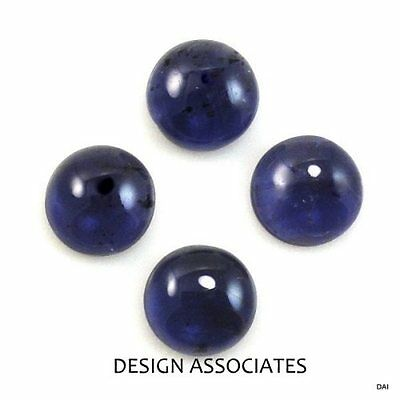 8 Mm Round Cut Iolite Cabochon  Aaa All Natural