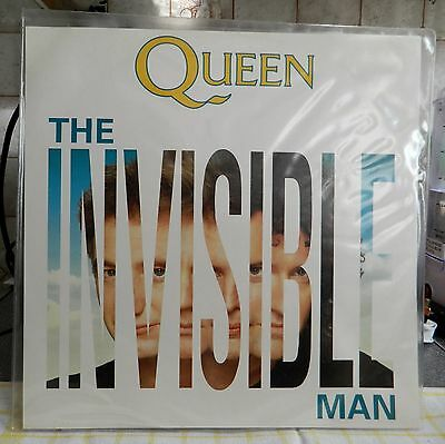 """The Queen The Invisible Man Clear Vinyl 12"""" 12QueenX 1989 b/w Hijack My Heart"""