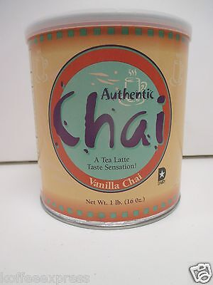 Vanilla Chai Tea Latte Powder Mix 1Lb Can  Authentic
