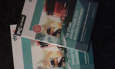 The official driver theory test CD- Rom and book Truck&Buses