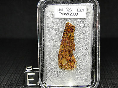 JAH-026 Official Meteorite - L3.1 Type 3 - JAH-026-0001 - THIN SECTION - 1 of 15