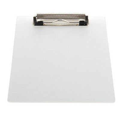 Clipboard Plate Door Translucent Block clip for Paper A5 Office N3