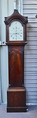 18th century mahogany longcase / grandfather clock George Jamison Portsea