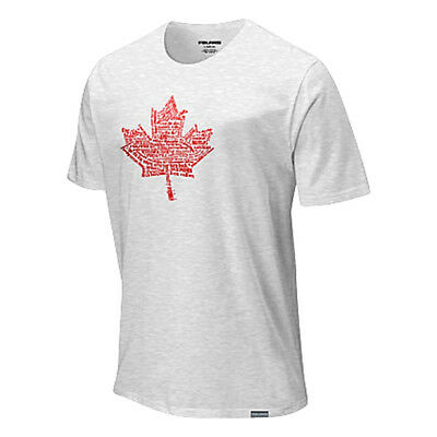 Men's Polaris Snowmobile White T-Shirt with Red Canada Canadian Maple Leaf S-3XL