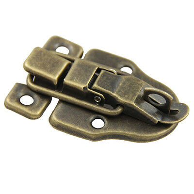 Cabinet Boxes Duckbilled Metal Toggle Latch Catch Hasp Bronze Tone N3