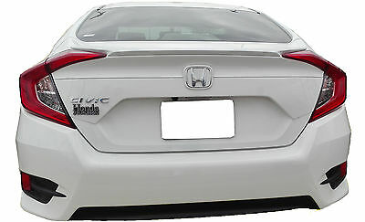 Painted Spoiler For A Honda Civic 4-Door Factory Style Flush Mount 2016-2018
