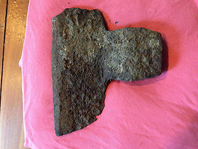 Antique iron broad axe head - blacksmith made over 100 years ago