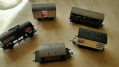 A model railway joblot of 5 ho / oo wagons for repair