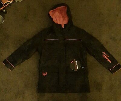 Airwalk Girls Snow Jacket And Trousers Bnwt Age 9-10 Black And Pink.