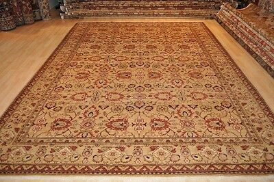 8 X 11 Ft. Fine Quality Persian Vegetable Dye Hand Made Hand Knotted Beige Rug