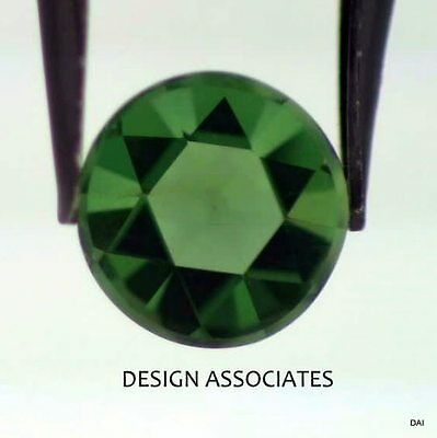 Apatite 8 Mm Round Rose Cut All Natural Chrome Green Color