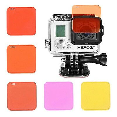 Elecor Dive Filter Kit with Standard Housing for GoPro Hero4 and Hero3+ 5 Pac...