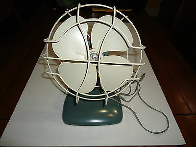 Vintage Retro Superior Electric Table Top Wall Mount 10'' Working Fan