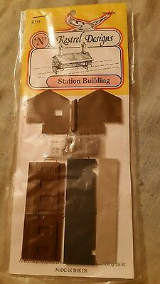 A model railway plastic kit by kestrel designs for N gauge of a station building