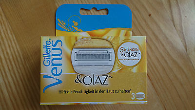 NEW!!! GILLETTE VENUS OLAY RAZOR BLADES CARTRIDGES 3pack