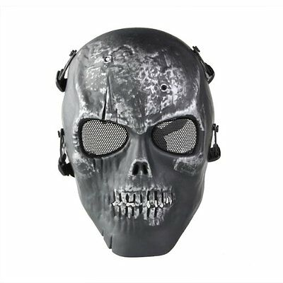 Skull Skeleton Airsoft Paintball Full Face Protect Mask ED