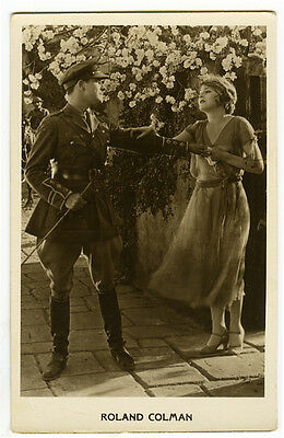 1920s Movie Film Star RONALD COLMAN Vilma Banky postcard