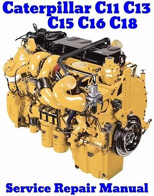 caterpillar c11 c13 c15 c16 cat acert truck engine service shop caterpillar c11 c13 c15 c16 c18 cat acert engine service repair manual on cd