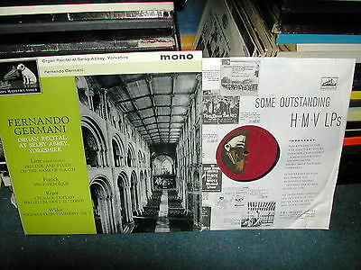 CLP 1574 Fernando Germani organ recital selby abbey LP 1962