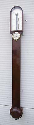 MAHOGANY STICK BAROMETER WITH HYGROMETER-Testi and Co Fecit