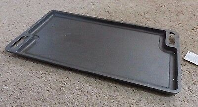 "NEW 19"" Cast Iron Reversible Double-Sided Griddle Pan for Stovetop or Grill"
