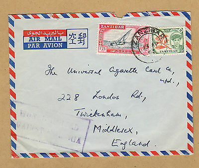 Zanzibar 1963 cover to Middlesex WORLD UNITED AGAINST MALARIA cachet airmail