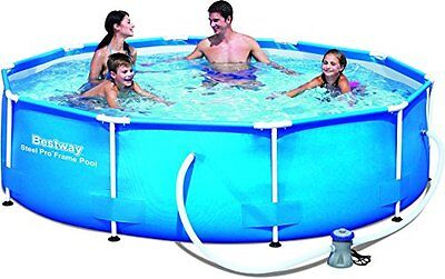 Bestway Steel Pro Frame Swimming Pool Set with Filter Pump, 305 x 76 cm, Blue