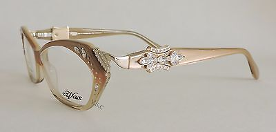 Caviar 5611 Eyeglasses Champagne Cat Eye Shape Glasses Female Frame 16 Brown New