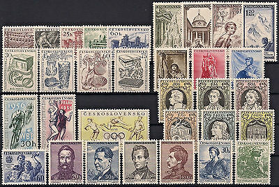 Czechoslovakia 1956, Complete Year Set Stamps, **mnh**