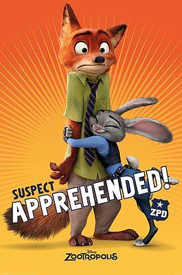 ZOOTROPOLIS Poster - SUBJECT APPREHENDED - NEW ZOOTROPOLIS MOVIE POSTER PP33824