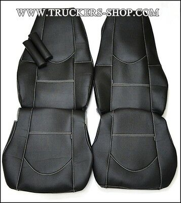 Volvo Fh Fm Truck Seat Covers Leatherette Black [Truck Parts & Accessories]