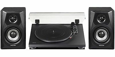 Teac TN100B Belt-Drive Turntable with Preamp and USB (Black) Plus Tascam VL-S...