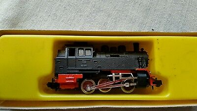 A model railway German locomotive in N gauge by Arnold rapido boxed