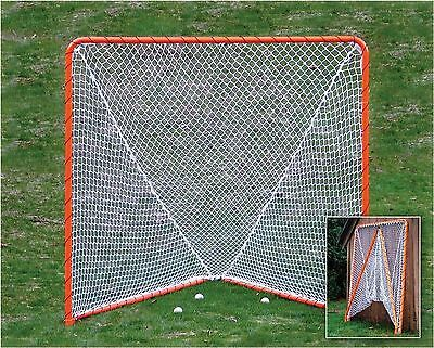 EZGoal Lacrosse Folding Goal 6 x 6-Feet Orange