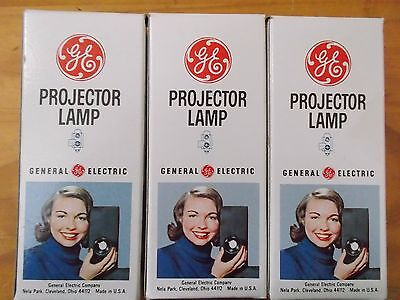 Lot of 3 GE Projector Lamp DCF 150w 21.5v