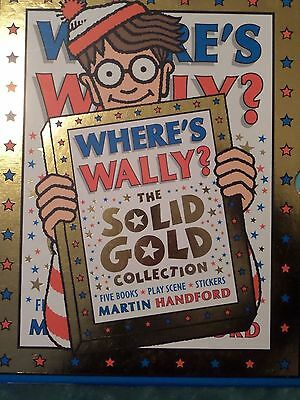 Where's Wally? The Solid Gold Collection- 5 Books & Sticker Book