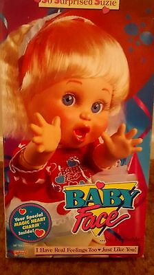 Never Removed From Box NEW So Surprised Suzie Vintage Baby Face Doll by Galoob